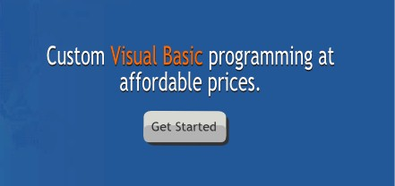 Request Visual Basic programming services information.